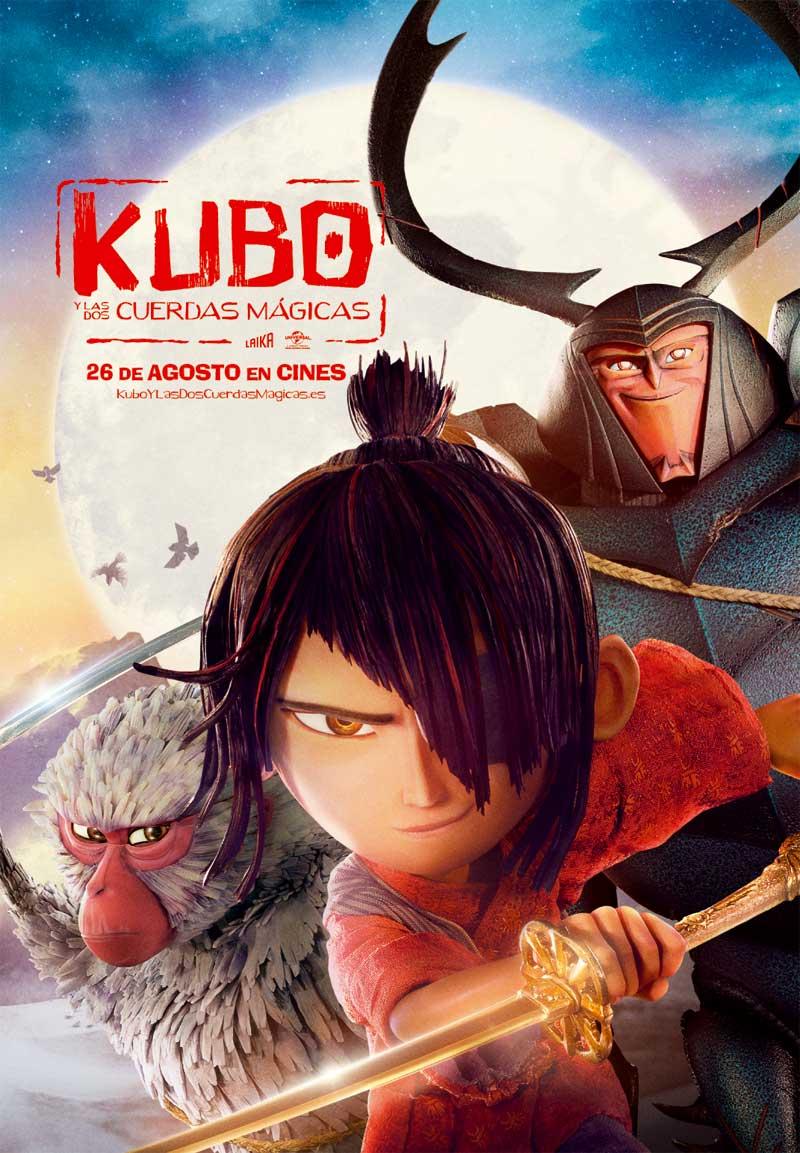 cartel Kubo y las dos cuerdas mágicas