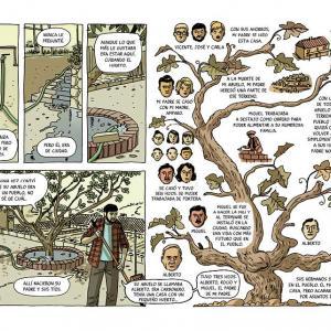 página ilustrada del album La Casa de Pablo Roca